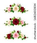 vector set of pink  burgundy... | Shutterstock .eps vector #1682602834