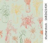 hand drawn vector seamless... | Shutterstock .eps vector #1682621434