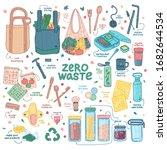 big zero waste elements set.... | Shutterstock .eps vector #1682644534