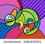 Chameleon Exotic Animal Modern...