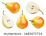 Fresh Yellow Pears Isolated On...