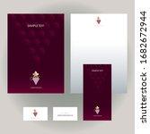 set of vector design templates... | Shutterstock .eps vector #1682672944