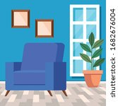 living room home place with...   Shutterstock .eps vector #1682676004
