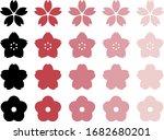 various cherry blossom flower... | Shutterstock .eps vector #1682680201