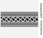 decorative seamless border... | Shutterstock .eps vector #1682690404