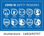 set of corona virus covid 19... | Shutterstock .eps vector #1682690707