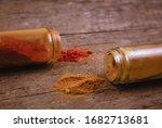 chilli colorful powder spices...   Shutterstock . vector #1682713681