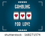 slot machine greeting card... | Shutterstock .eps vector #168271574
