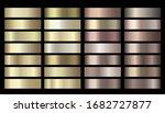 vector metallic gold  silver ... | Shutterstock .eps vector #1682727877