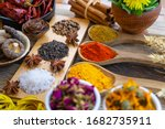Colourful Various Herbs And...