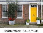 Old English House With Brick...