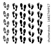 Different Human Footprints Icon....