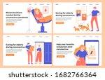 design concepts for landing...   Shutterstock .eps vector #1682766364
