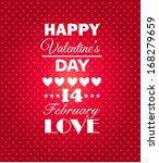 happy valentines day background....   Shutterstock .eps vector #168279659