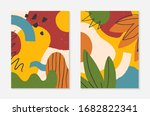 set of modern vector collages...   Shutterstock .eps vector #1682822341