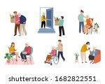 volunteers series   young...   Shutterstock .eps vector #1682822551