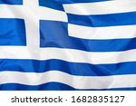 Fabric texture flag of greece....