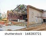 old destroyed cinema building... | Shutterstock . vector #168283721