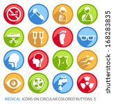 medical icons on circular... | Shutterstock .eps vector #168283835