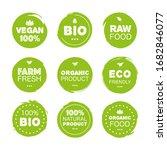 fresh healthy organic vegan...   Shutterstock .eps vector #1682846077