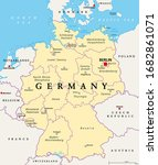 germany  political map. states...   Shutterstock .eps vector #1682861071