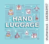 hand luggage word concepts...