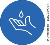 hand with sanitizer droplet... | Shutterstock .eps vector #1682889784