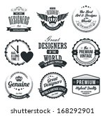 set of retro vintage badges and ... | Shutterstock .eps vector #168292901
