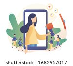 social media influencer. key... | Shutterstock .eps vector #1682957017