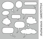 empty speech bubbles. vector...   Shutterstock .eps vector #1682957914