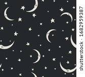 seamless dark pattern with... | Shutterstock .eps vector #1682959387