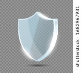glass shield. blue acrylic...   Shutterstock .eps vector #1682967931