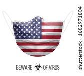 medical mask with national flag ...   Shutterstock .eps vector #1682971804