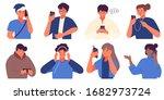 flat collection of millennial... | Shutterstock .eps vector #1682973724