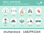 social distancing for covid 19... | Shutterstock .eps vector #1682992264