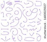 sketch arrow set. vector... | Shutterstock .eps vector #1683025027