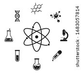 chemistry icon set. science... | Shutterstock .eps vector #1683057814