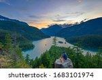 The Diablo Lake overlook in the Cascade Mountains