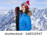 Beauty Smiling Woman In Winter...