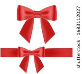 hand drawn decorative red bow... | Shutterstock .eps vector #1683112027