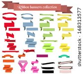 collection of ribbons and... | Shutterstock .eps vector #168313577