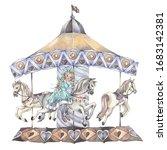 A Little Girl On A Carousel...