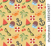 cute and cool vector pattern...   Shutterstock .eps vector #1683142657