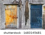 Rusty Doors Of A Old World War...
