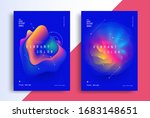 minimal poster layout with...   Shutterstock .eps vector #1683148651