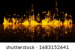 Gold Color Digital City ...