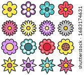 cute and colorful flower vector ... | Shutterstock .eps vector #1683174631