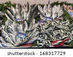 Fish On A Fish Market In...