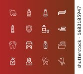 editable 16 toothpaste icons... | Shutterstock .eps vector #1683185947
