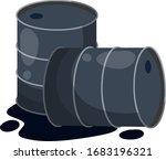 barrel of oil. combustible... | Shutterstock .eps vector #1683196321